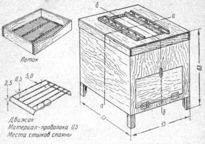 Инкубатор конструкции Н. П. Третьякова. Общий вид